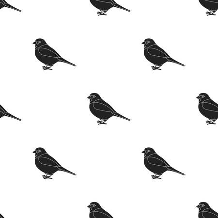 the sparrow: Sparrow icon in black style isolated on white background. Bird pattern stock vector illustration.
