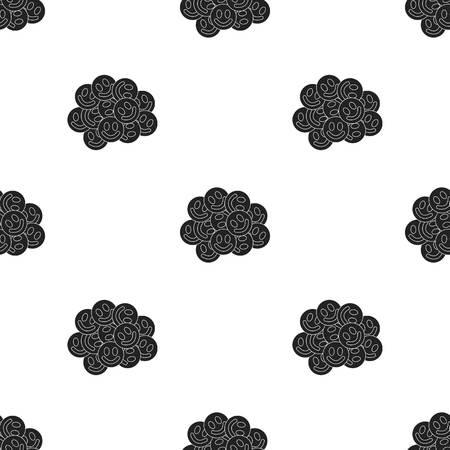 methamphetamine: Ecstasy icon in black style isolated on white background. Drugs pattern stock vector illustration.