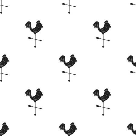 weathercock: Weather vane icon in black style isolated on white background. Weather pattern stock vector illustration.