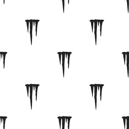 Icicles icon in black style isolated on white background. Weather pattern stock vector illustration.