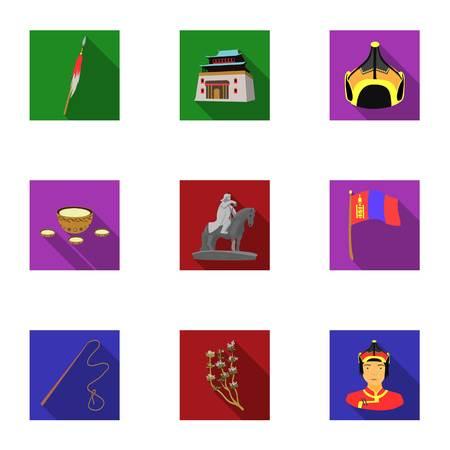 Set von Icons über die Mine. Die Gewinnung von Kohle, Mineralien, Schutz der Bergleute. Verarbeitung von Kohle.Mine Industrie-Symbol in Set-Auflistung auf flachen Stil Vektor-Symbol stock Illustration.