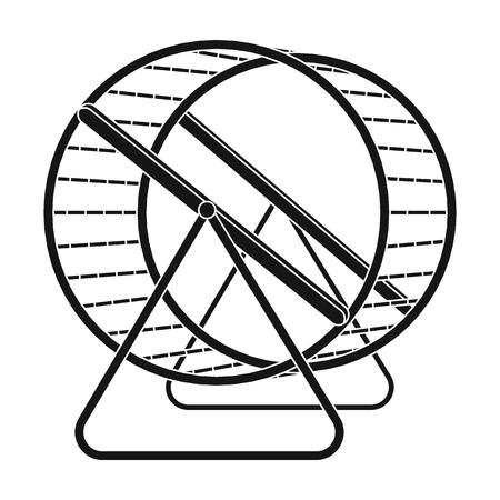 Wheel for rodents.Pet shop single icon in black style vector symbol stock illustration web. Vettoriali