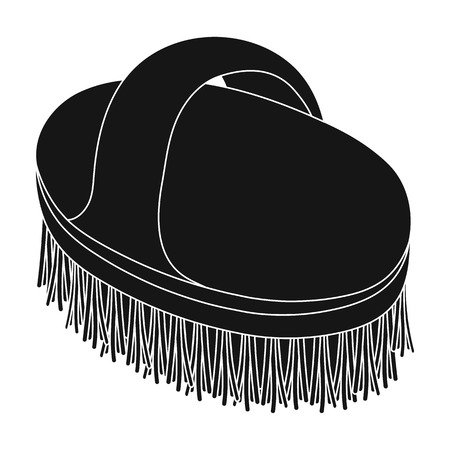 paddock: Animal brush.Pet shop single icon in black style vector symbol stock illustration web.