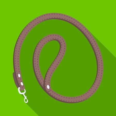 Leash for animals.Pet shop single icon in black style vector symbol stock illustration web. Illustration