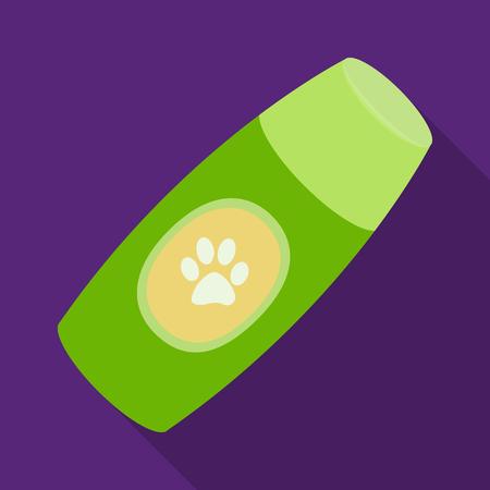 cute dog: Shampoo for animals.Pet shop single icon in black style vector symbol stock illustration web.