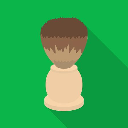 Shaving brush icon in flat style isolated on white background. Hairdressery symbol vector illustration.