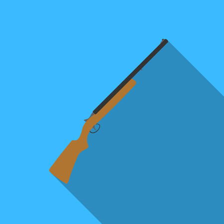 targets: Hunting rifle icon in flat style isolated on white background. Hunting symbol vector illustration. Illustration