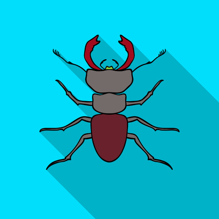 Forest red ant icon in flat style isolated on white background. Insects symbol stock vector illustration. Illustration