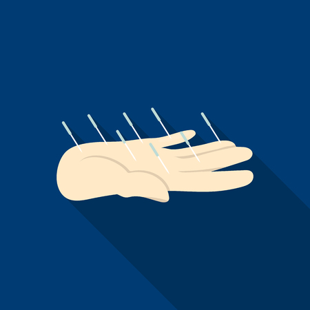 med: Acupuncture icon flat. Single medicine icon from the big medical, healthcare flat.