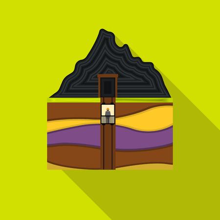 Mine Welle Symbol in flachen Stil isoliert auf weißem Hintergrund. Mine Symbol Stock Vektor-Illustration.