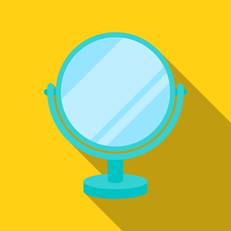 Mirror icon in flat style isolated on white background. Make up symbol stock vector illustration. Illustration