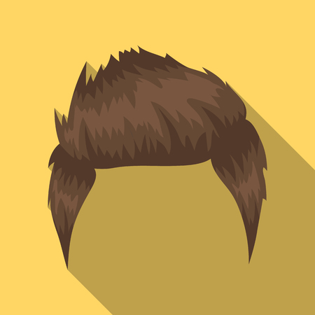 Mans hairstyle icon in flate style isolated on white background. Beard symbol stock vector illustration. Illustration