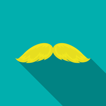Mans mustache icon in flate style isolated on white background. Beard symbol stock vector illustration. Illustration