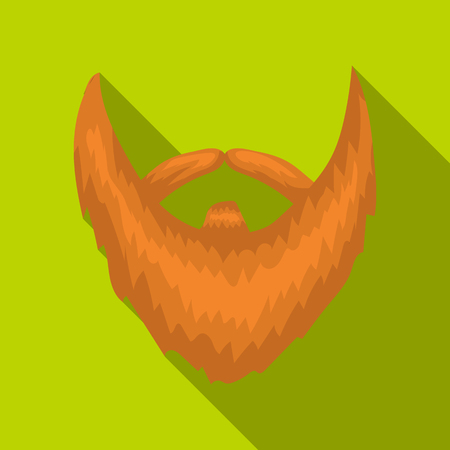 Mans beard icon in flate style isolated on white background. Beard symbol stock vector illustration.