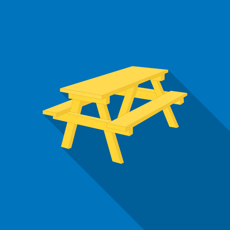 Bench icon of vector illustration for web and mobile