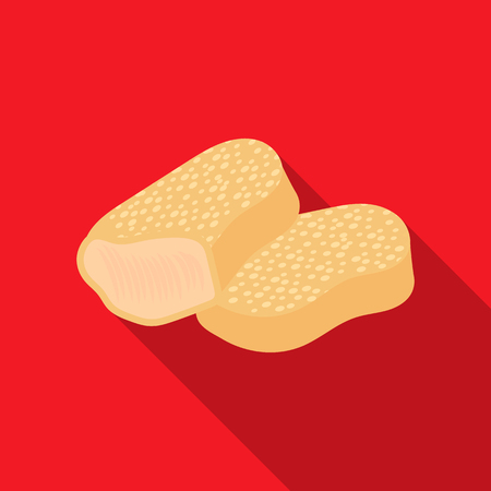 Nuggets vector icon in flat style for web