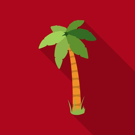 Palm vector icon in flat style for web Illustration