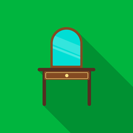 chest of drawers: Drawers with mirror icon of vector illustration for web and mobile