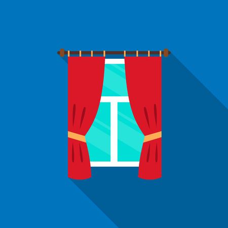 Curtain icon of vector illustration for web and mobile