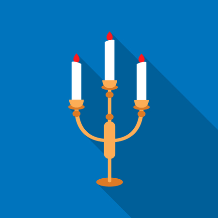 Candlestick lamp icon of vector illustration for web and mobile Illustration