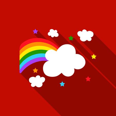 Rainbow icon flat. Single gay icon from the big minority, homosexual flat.