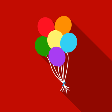 Balloon icon flat. Single gay icon from the big minority, homosexual flat.
