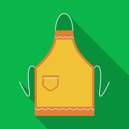 Apron icon in flate style isolated on white background. Kitchen symbol stock vector illustration.