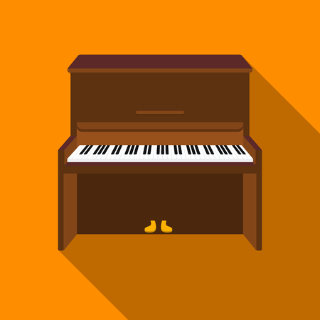 Piano icon in flat style isolated on white background. Musical instruments symbol stock vector illustration