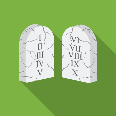 Ten Commandments icon in flat style isolated on white background. Religion symbol stock vector illustration.