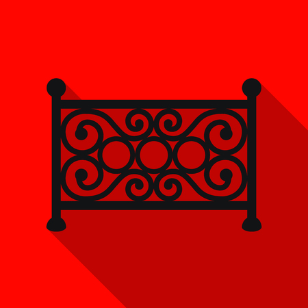 Fence icon in flat style isolated on white background. Park symbol stock vector illustration.