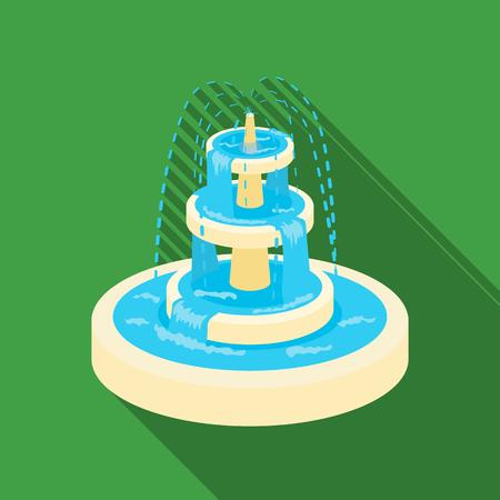 Fountain icon in flat style isolated on white background. Park symbol stock vector illustration.
