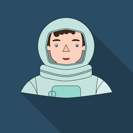 Astronaut icon in flat style isolated on white background. People of different profession symbol stock vector illustration.