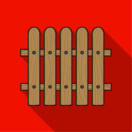 Fence icon in flat style isolated on white background. Sawmill and timber symbol vector illustration. Illustration