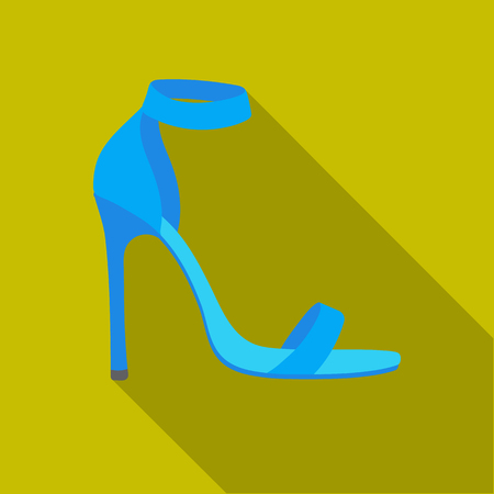 Ankle straps icon in flat style isolated on white background. Shoes symbol stock vector illustration. Illustration