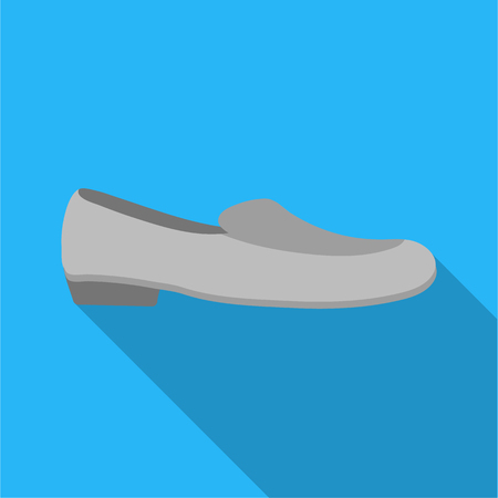 loafer: Loafers icon in flat style isolated on white background. Shoes symbol stock vector illustration.