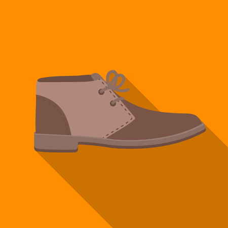 brogues: Oxfords icon in flat style isolated on white background. Shoes symbol stock vector illustration.