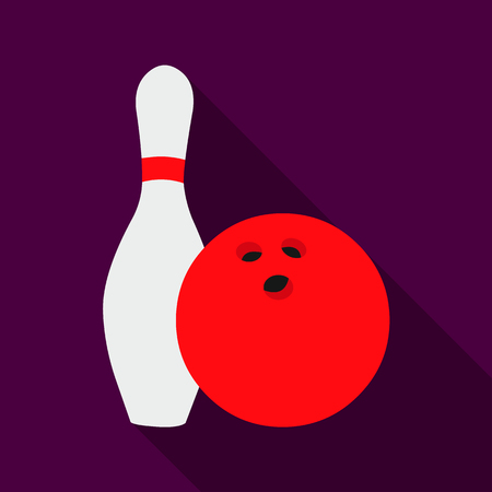 targets: Bowling icon flate. Single sport icon from the big fitness, healthy, workout flate.