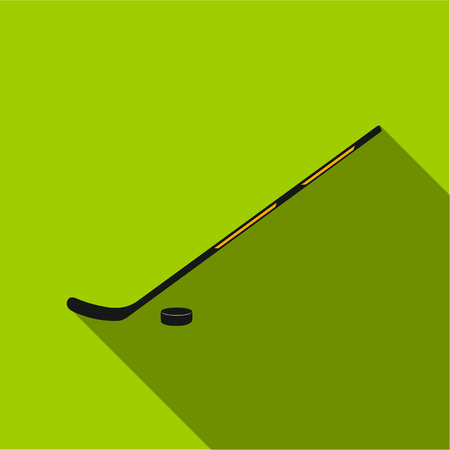 Hockey icon flate. Single sport icon from the big fitness, healthy, workout flate. Illustration