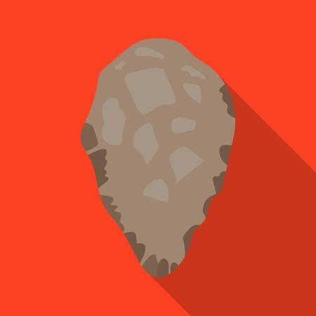 habilis: Stone tool icon in flate style isolated on white background. Stone age symbol stock vector illustration.