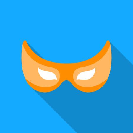 Eye mask icon in flate style isolated on white background. Superheros mask symbol stock vector illustration. Illustration