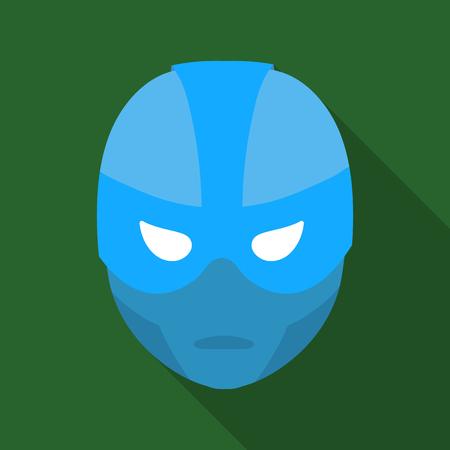 Superheros helmet icon in flate style isolated on white background. Superheros mask symbol stock vector illustration.