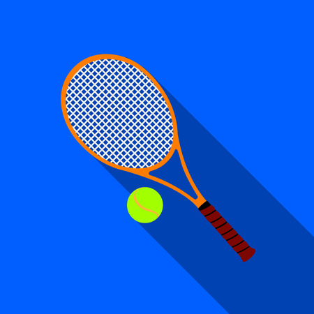 Tennis icon flate. Single sport icon from the big fitness, healthy, workout flate.