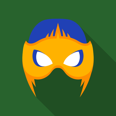 Full head mask icon in flate style isolated on white background. Superheros mask symbol stock vector illustration. Illustration