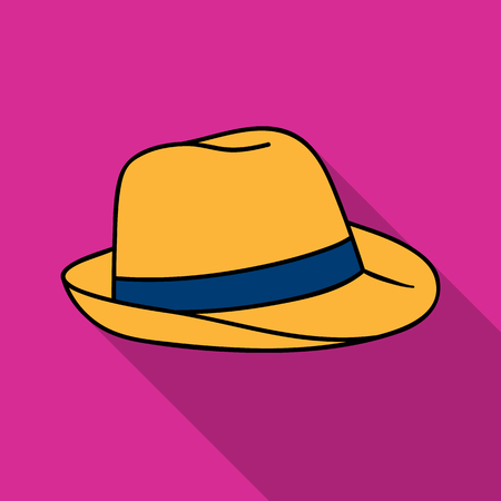 Panama hat icon in flate style isolated on white background. Surfing symbol stock vector illustration.
