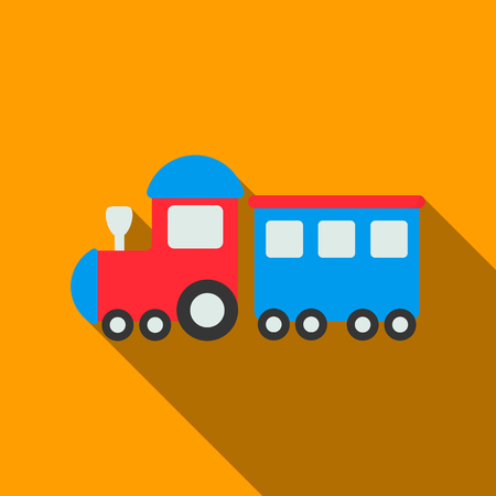 Locomotive flate icon. Illustration for web and mobile design.