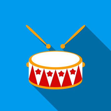 Drum flate icon. Illustration for web and mobile design.