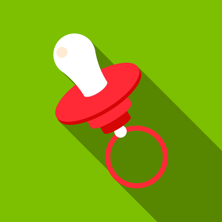babysitting: Nipple flate icon. Illustration for web and mobile design.