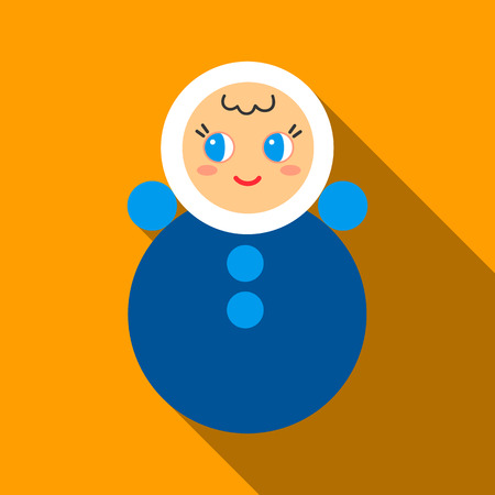 wobbly: Roly Poly flate icon. Illustration for web and mobile design.