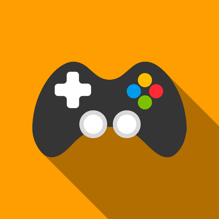 Controller flate icon. Illustration for web and mobile design.