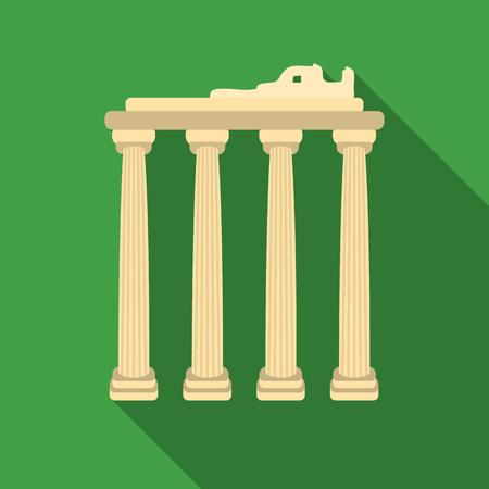 Icono de ruinas turcas en estilo flate aisladas sobre fondo blanco. Símbolo de Turquía stock ilustración vectorial. Ilustración de vector